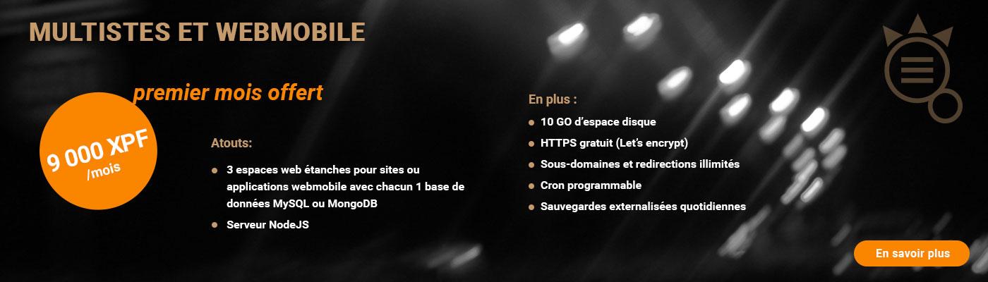 Promotion Hébergement Web Mars Avril 2018